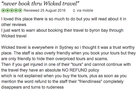 Wicked travel sydney