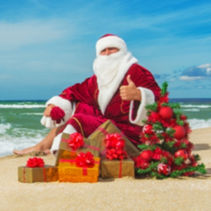 Christmas In Australia Santa.Australian Santa On The Beach The Byte